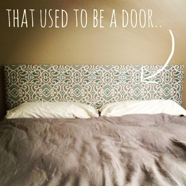 DIY Hollow Core Door Headboard: Eats & Makes