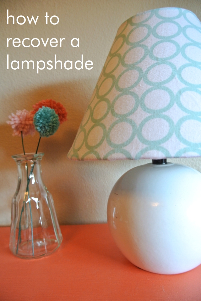 Cheap Lampshade Recover | Eats & Makes